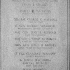 Pentagon Dedication Stone