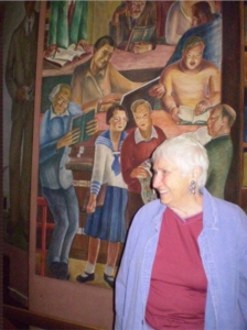 Ruth Gottstein, the artist's daughter—Zakheim's mural at Coit Tower depicts Ruth wearing a sailor suit.
