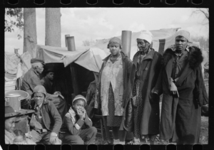 Evicted sharecroppers along Highway 60, 1939, New Madrid County, MO