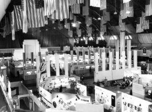 Hall of Flags overlooking the American Negro Exposition