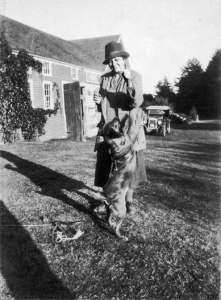 Frances Perkins with Balto