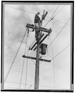 Workers on Pole (1938)