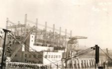Bonneville Dam under construction, 1939