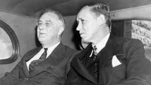 President Franklin Roosevelt and Secretary of Commerce Harry Hopkins