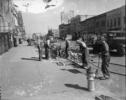 WPA workers repairing Massachusetts Street in Lawrence, Kansas. Source: Kansas Historical Society.