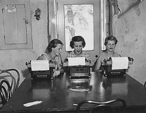 FERA Vocational training camp for unemployed women in Pennsylvania, 1934.