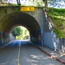 Tunnel/overpass at south end of Temescal Park - Oakland CA