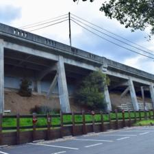 Remnant of former Landvale Bridge by Lake Temescal - Oakland CA