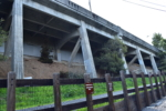 Remnant of Landvale Bridge and route of Sacramento Northern RR by Lake Temescal - Oakland CA