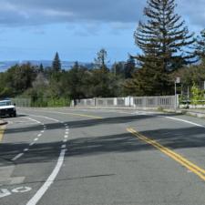 Upper Broadway, looking west across bridge over Golden Gate Ave. - Oakland CA