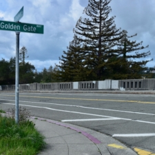 Upper Broadway bridge over Golden Gate Ave. - Oakland CA