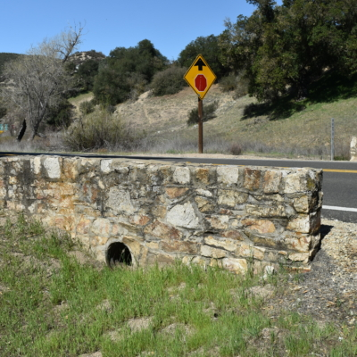 Stone culvert on state highway 58 near Santa Marguerita CA
