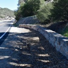Rock wall along state highway 58 near Santa Marguerita CA