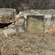 WPA stamp on previous culvert near Santa Marguerita CA