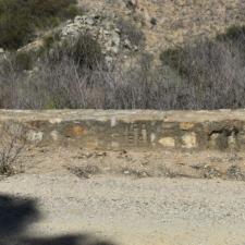 Stone culvert on state highway 58 near Santa Marguerita CA