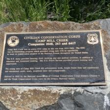 Camp Mill Creek Plaque