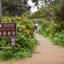 Trail sign, Lookout Point, Patrick's Point State Park - Trinidad CA