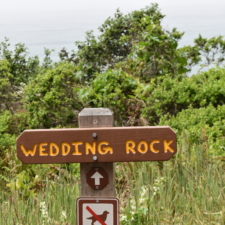 Sign to trail to Wedding Rock, Patrick's Point State Park - Trinidad CA