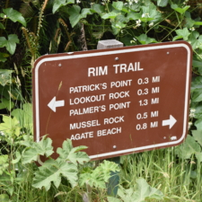 Trail sign,Patrick's Point State Park - Trinidad CA