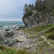 Trail below Wedding Rock, Patrick's Point State Park - Trinidad CA
