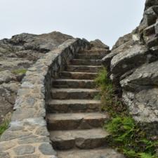Stone steps on Wedding Rock, Patrick's Point State Park - Trinidad CA