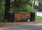 Entrance sign, Patrick's Point State Park - Trinidad CA