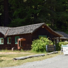 Former warden's house, now the visitors center,Prairie Creek Redwoods State Park - Orick CA