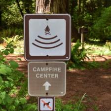 Sign toCampfire Center, Prairie Creek Redwoods State Park - Orick CA