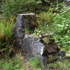 Derelict stoveat picnic area, Prairie Creek Redwoods State Park - Orick CA