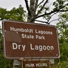 Park sign, Dry Lagoon entrance, Humboldt Lagoons State Park - Trinidad CA