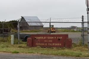 Entrance sign,Humboldt County fairgrounds - Ferndale CA