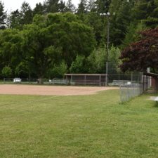 Second baseball field with dugout, Rohner Park - Fortuna CA