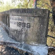 Date stamp onArroyo de la Laguna Bridge - Sunol CA