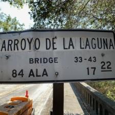 Sign forArroyo de la Laguna Bridge - Sunol CA