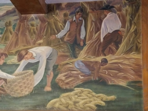 Rhinebeck Post Office Mural by Olin Dows, 1940.