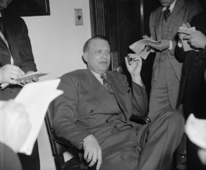 Rep. Martin Dies with Hollywood studio executives, 1939
