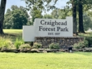 The Entrance of the Craighead Forest Park