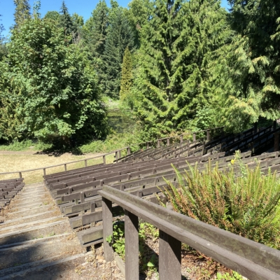 Cerf Theatre with view to the north of ReedLake