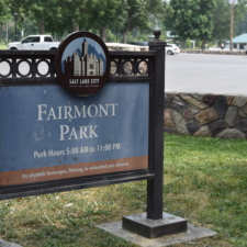 Modern sign, west side ofFairmont Park - Salt Lake City UT
