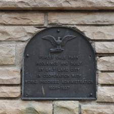 Plaque at Simpson Ave gate,Fairmont Park - Salt Lake City UT