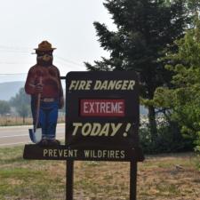 Fire danger sign, Heber-Kamas Ranger Station - Heber City UT