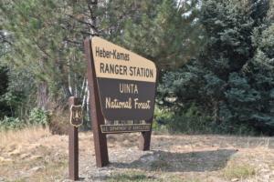 Entrance sign,Heber-Kamas Ranger Station - Heber City UT