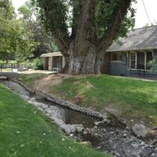 Creek and park building,Fairmont Park - Salt Lake City UT