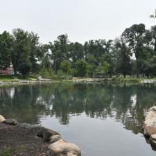 Modern fishing pond,Fairmont Park - Salt Lake City UT