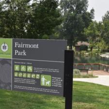 Entrance sign, east side of Fairmont Park - Salt Lake City UT