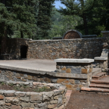 Stage and orchestra pit, Theater in the Pines at Aspen Grove - Mt Timpanogos UT