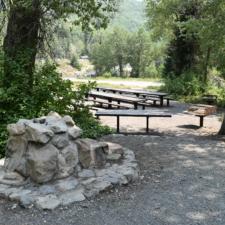 Stone drinking fountain nearTheater in the Pines at Aspen Grove - Mt Timpanogos UT