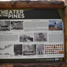 Historic panel, Theater in the Pines at Aspen Grove - Mt Timpanogos UT