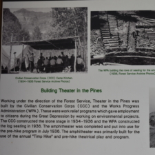 Part of historical panel,Theater in the Pines at Aspen Grove - Mt Timpanogos UT