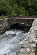 Stone bridge leading to Superintendent's residence, Timpanogos Cave NM - Mt Timpanogos UT